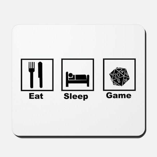 Eat, Sleep, Game Role Playing Mousepad