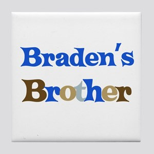 Braden's Brother  Tile Coaster