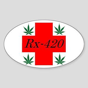 Rx-420 Oval Sticker
