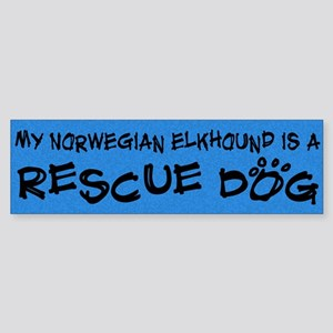 Rescue Dog Elkhound Bumper Sticker