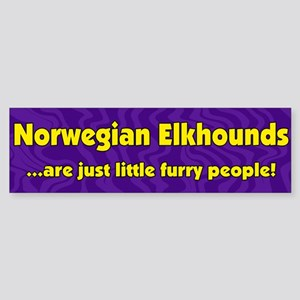 Furry People Norwegian Elkhound Bumper Sticker