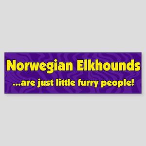 Furry People Norwegian Elkhound Bumper Sticker