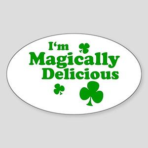 I'm Magically Delicious Oval Sticker