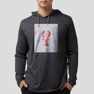nautical stripes vintage lobst Long Sleeve T-Shirt