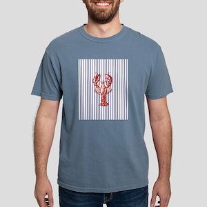 vintage red lobster navy stripe T-Shirt