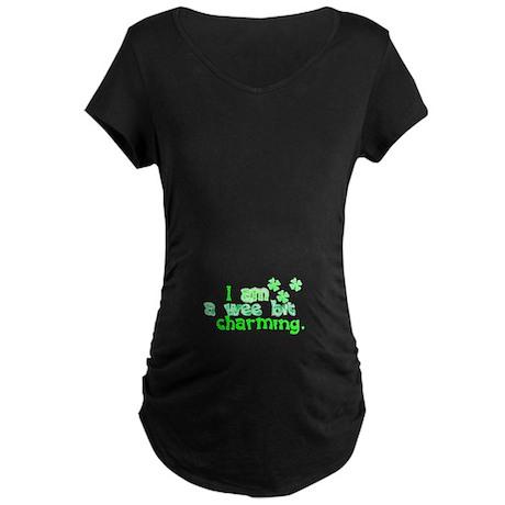 Ireland Shamrock Maternity Dark T-Shirt
