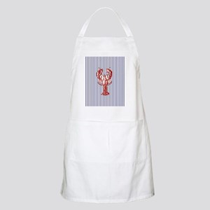 nautical stripes vintage lobster Light Apron