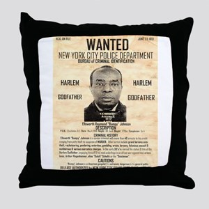 Wanted Bumpy Johnson Throw Pillow