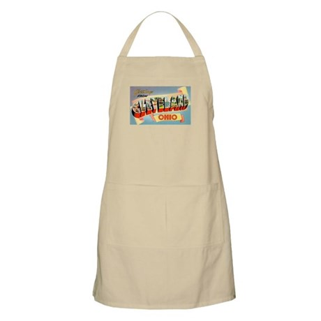 Cleveland Ohio Greetings BBQ Apron