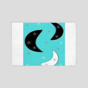 Boomerangs on Blue 4' x 6' Rug