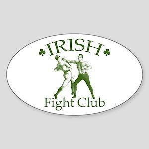 Irish Fight Club GR Oval Sticker