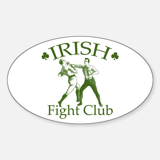 Irish Fight Club GR Oval Decal