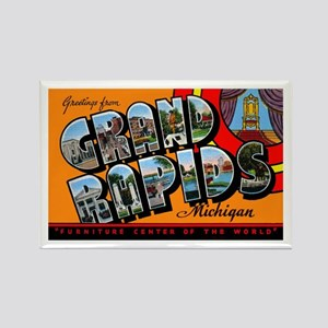 Grand Rapids Michigan Greetings Rectangle Magnet