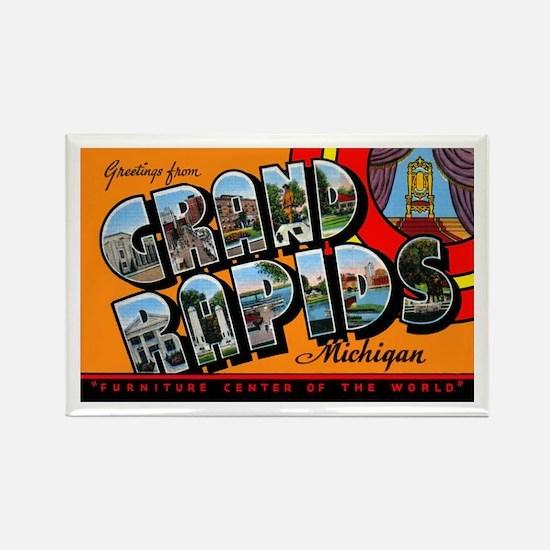 Grand Rapids Michigan Greetings Rectangle Magnet