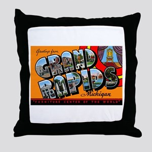 Grand Rapids Michigan Greetings Throw Pillow