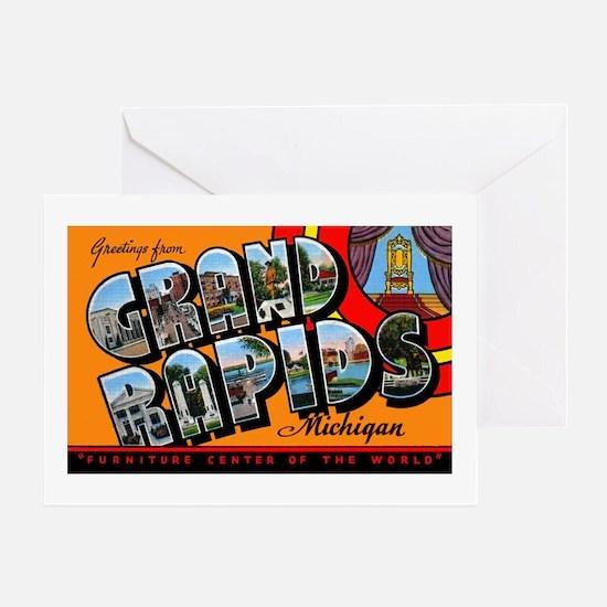 Grand Rapids Michigan Greetings Greeting Card
