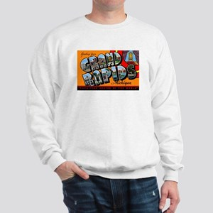 Grand Rapids Michigan Greetings (Front) Sweatshirt