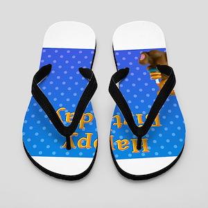 Blue Bear Happy Birthday Flip Flops