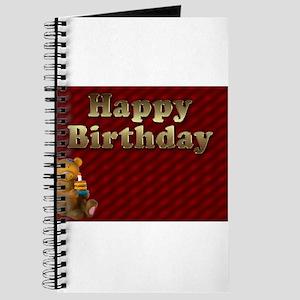 Red Bear Happy Birthday Journal