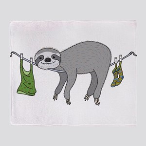 Sloth Throw Blanket