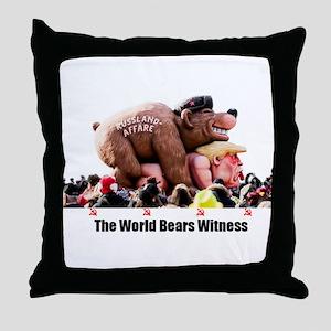Bear Witness Throw Pillow