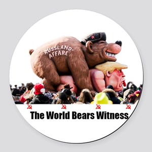 Bear Witness Round Car Magnet