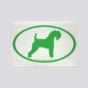 Green Kerry Blue Oval Rectangle Magnet
