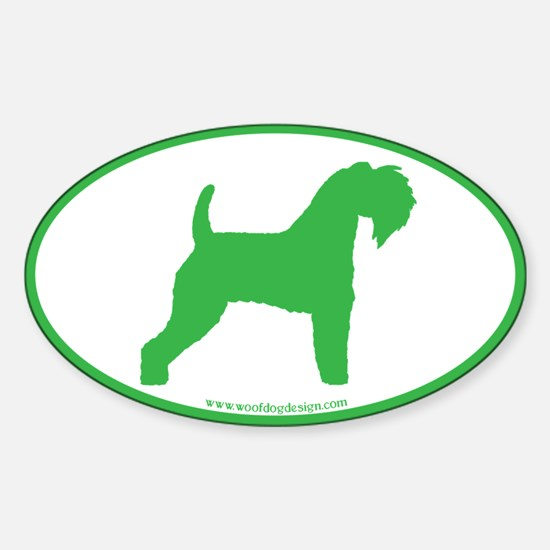 Green Kerry Blue Oval Oval Decal