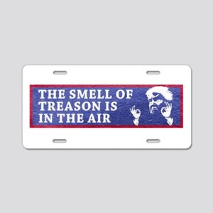 The Smell Of Treason Is In Aluminum License Plate