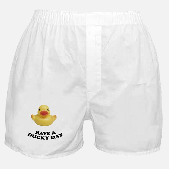 Have A Ducky Day Boxer Shorts