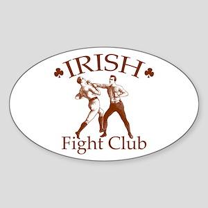 Irish Fight Club RS Oval Sticker