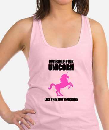Invisible Pink Unicorn Tank Top
