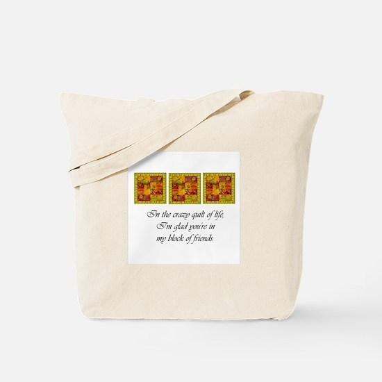 Friends - Crazy Quilt Tote Bag