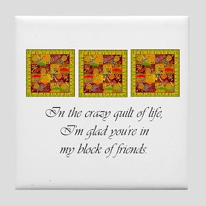 Friends - Crazy Quilt Tile Coaster