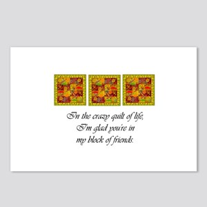 Friends - Crazy Quilt Postcards (Package of 8)