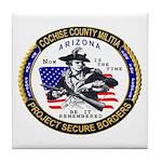 Cochise County Militia Tile Coaster