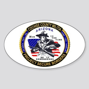 Cochise County Militia Oval Sticker
