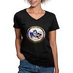 Cochise County Militia Women's V-Neck Dark T-Shirt