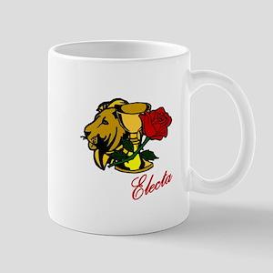 Electa Lion Cup Rose Design Mugs