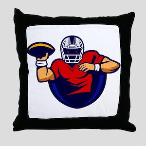 American Football 0001 Throw Pillow
