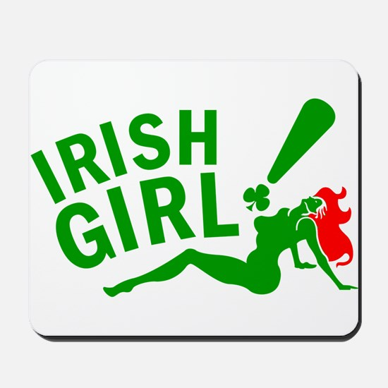 Redhead Irish Girl Mousepad