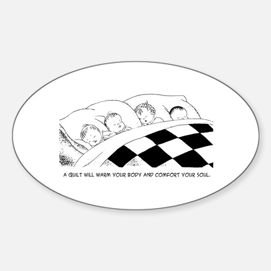 A Warm Quilt Oval Decal