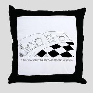 A Warm Quilt Throw Pillow