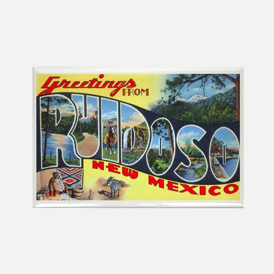 Ruidoso New Mexico Greetings Rectangle Magnet