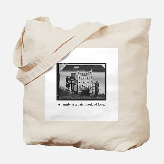 Family - Quilt of Love Tote Bag