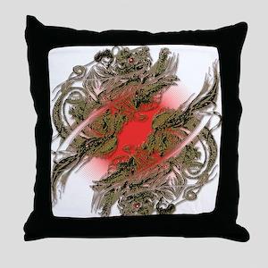 Dragon Riders Throw Pillow