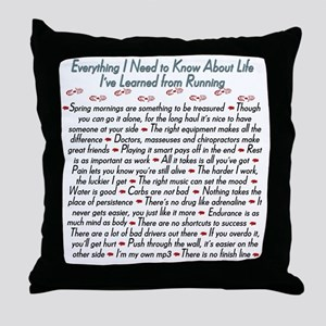 Running's Life Lessons - 10K Throw Pillow