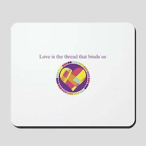 Love - Sew Quilt Heart Mousepad