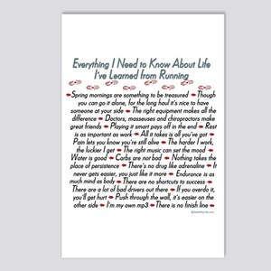 Running's Life Lessons Postcards (Package of 8)