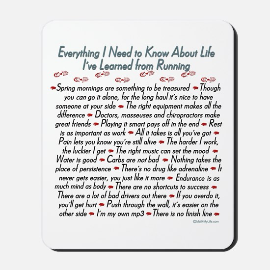 Running's Life Lessons Mousepad